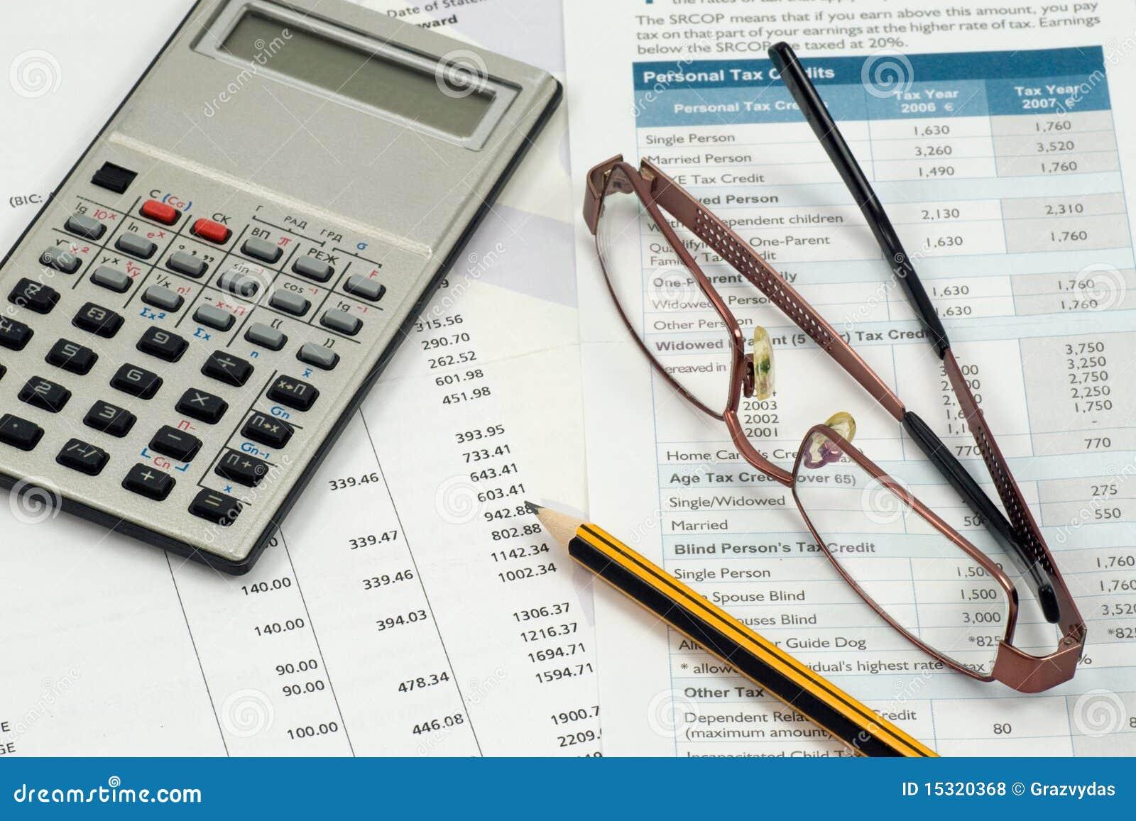 Aire de travail de comptable