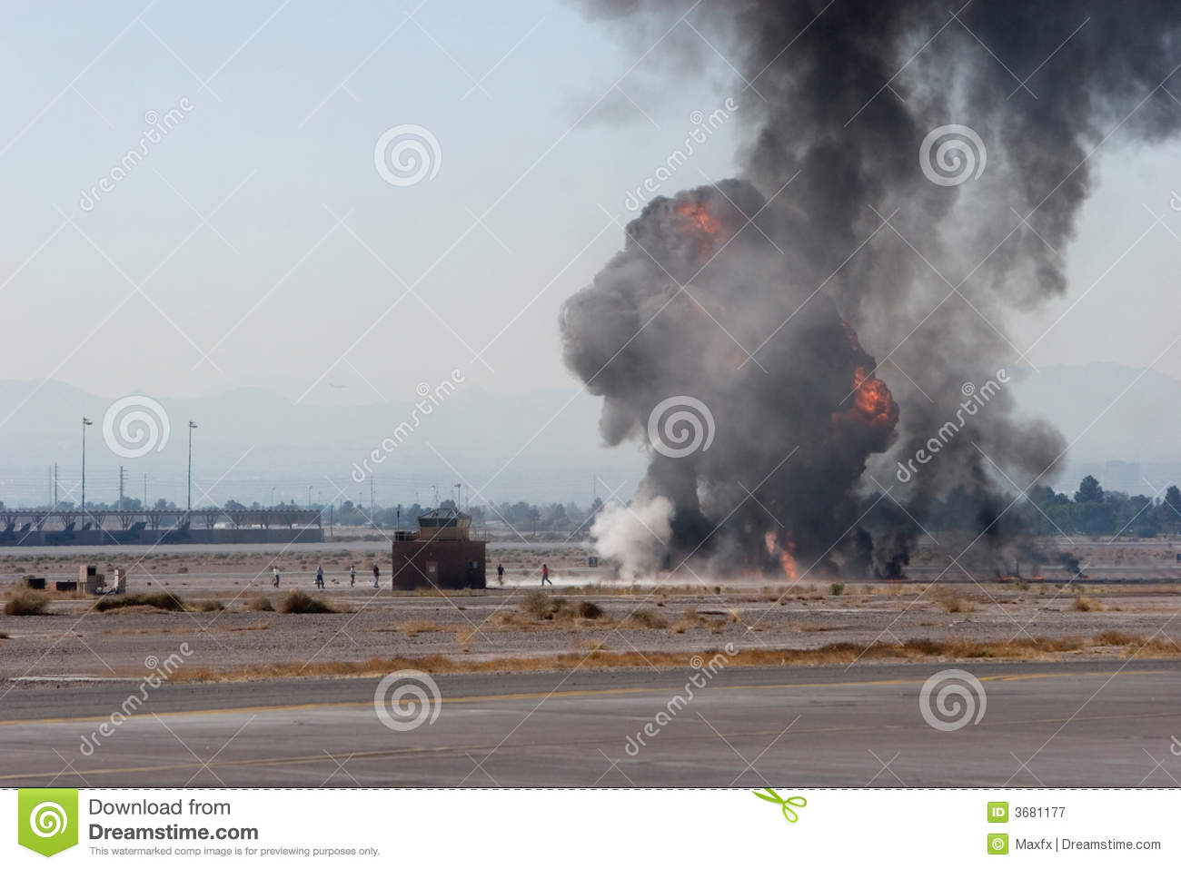 Airforce bombing at airshow in Nevada