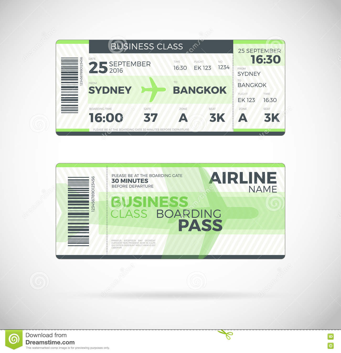 Bus And Train Ticket Vector Photo Image 10013150 – Bus Pass Template