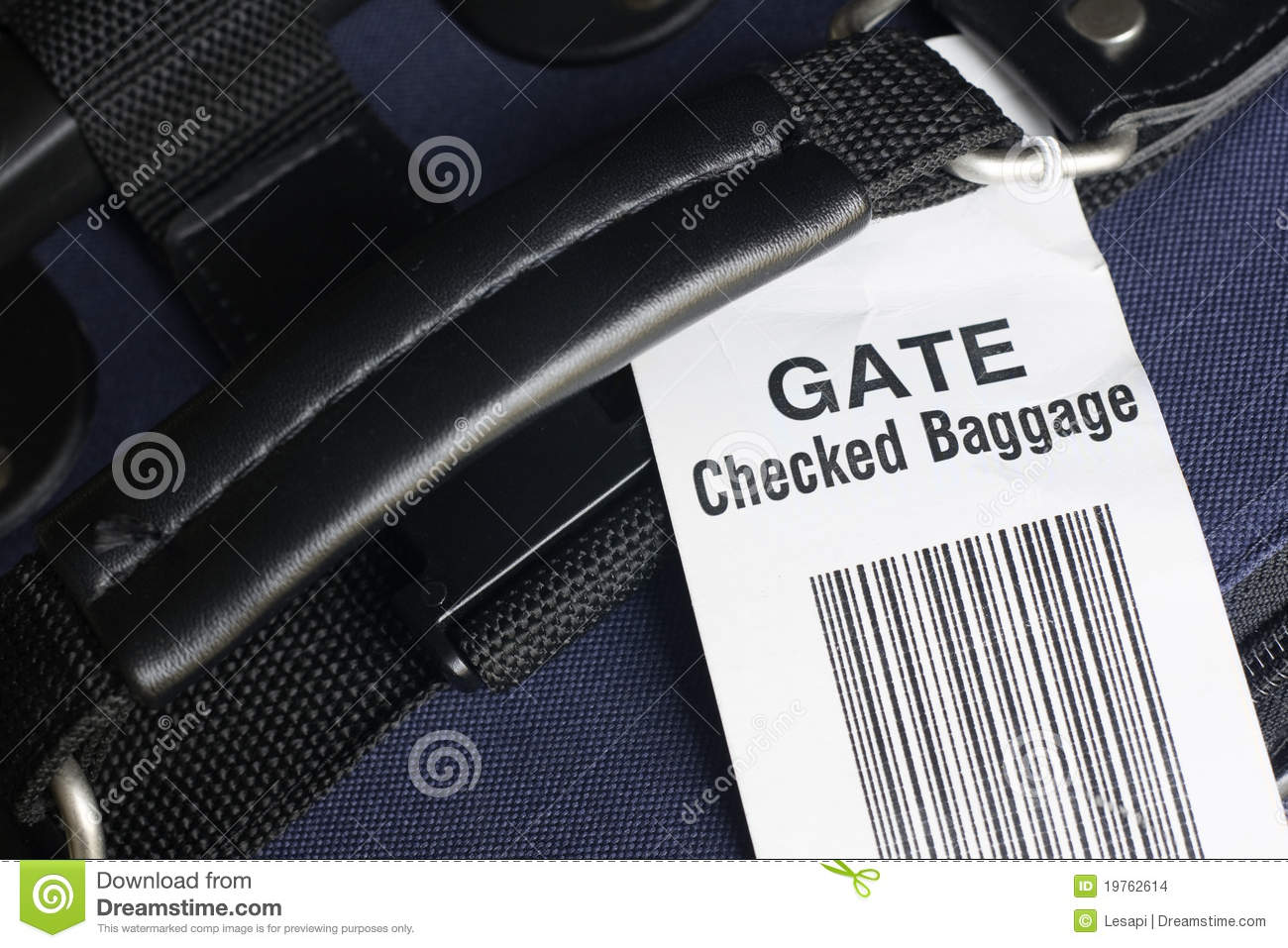Airline Gate Checked Baggage Stock Photo Image Of