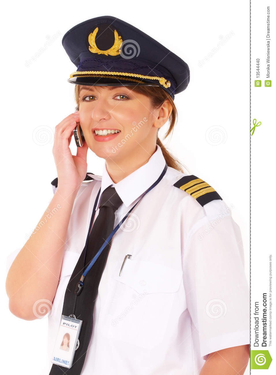 Airline pilot stock photo  Image of female, isolated - 13544440