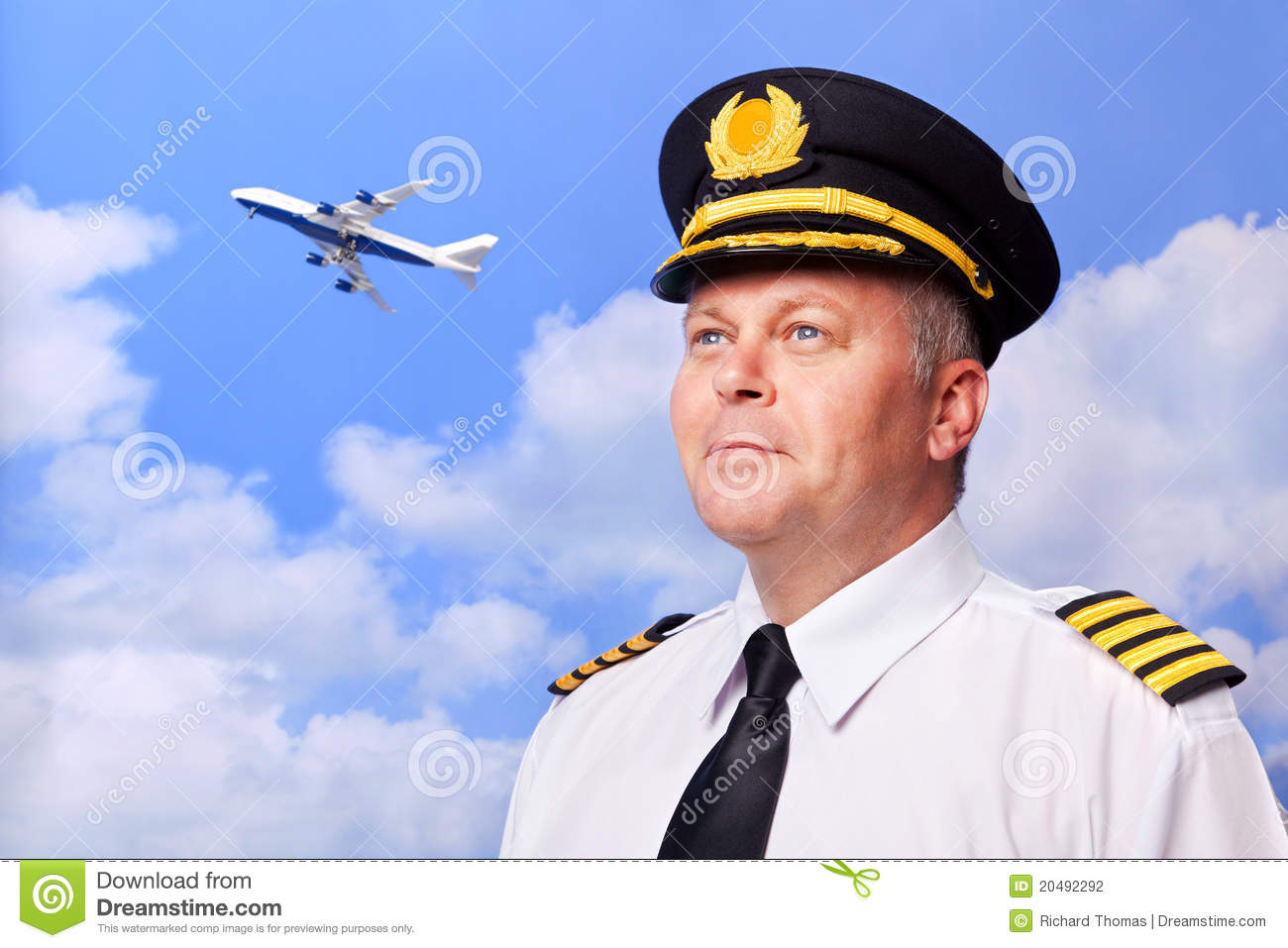 airline pilot stock photo image of shirt badge outfit 20492292