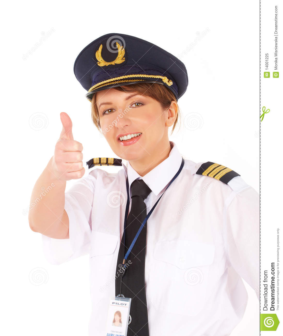 Airline Pilot Thumb Up Royalty Free Stock Photo  Image