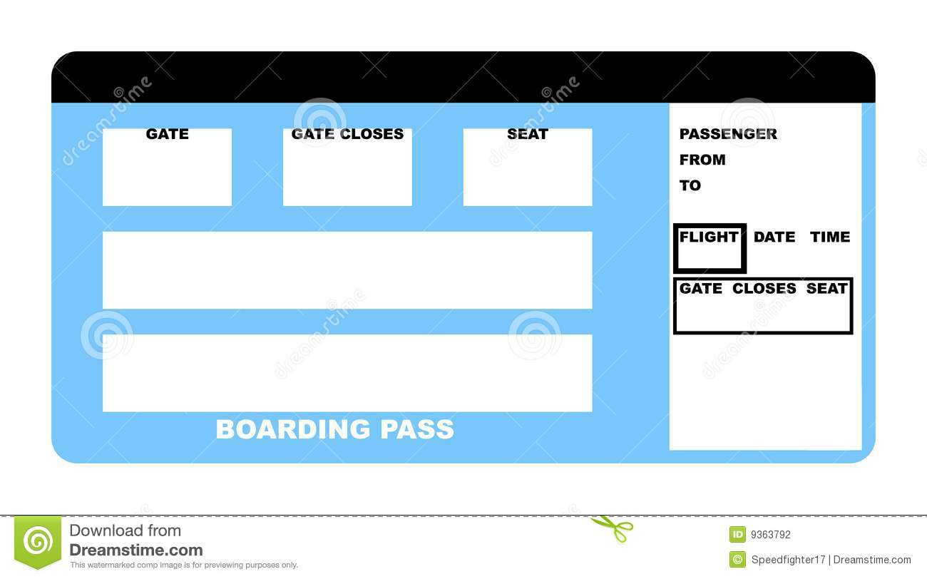Airline Ticket. Passenger, Background.  Printable Blank Tickets