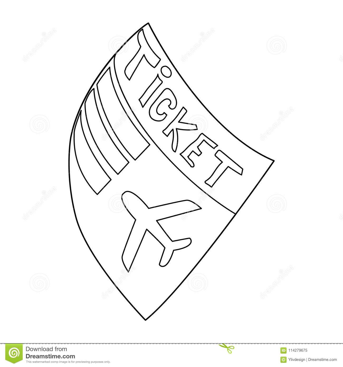 Plane Ticket Drawing Outline Wiring Diagrams Simple 555 Vco Circuit Diagram Tradeoficcom Airline Icon Style Stock Vector Illustration Of Rh Dreamstime Com Blank Airplane