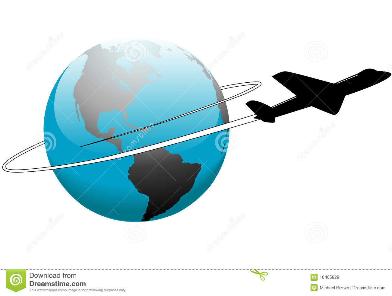 airline travel around the world earth airplane stock plane with banner clipart cartoon airplane with banner clipart