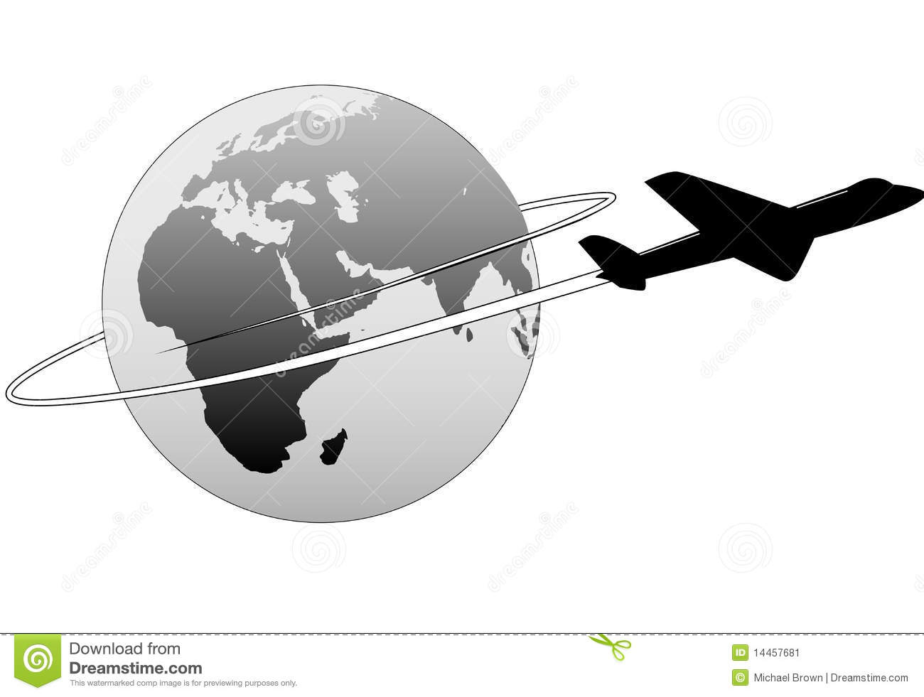 Airline Travel Around The World Earth East Plane Stock