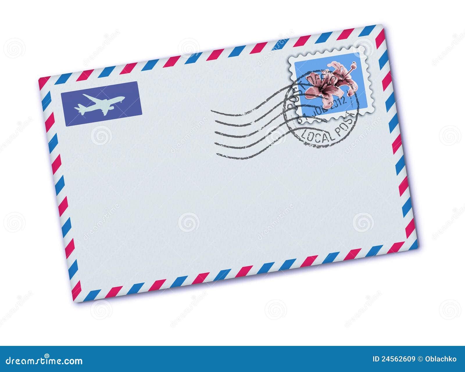 airmail envelope stock vector  illustration of business