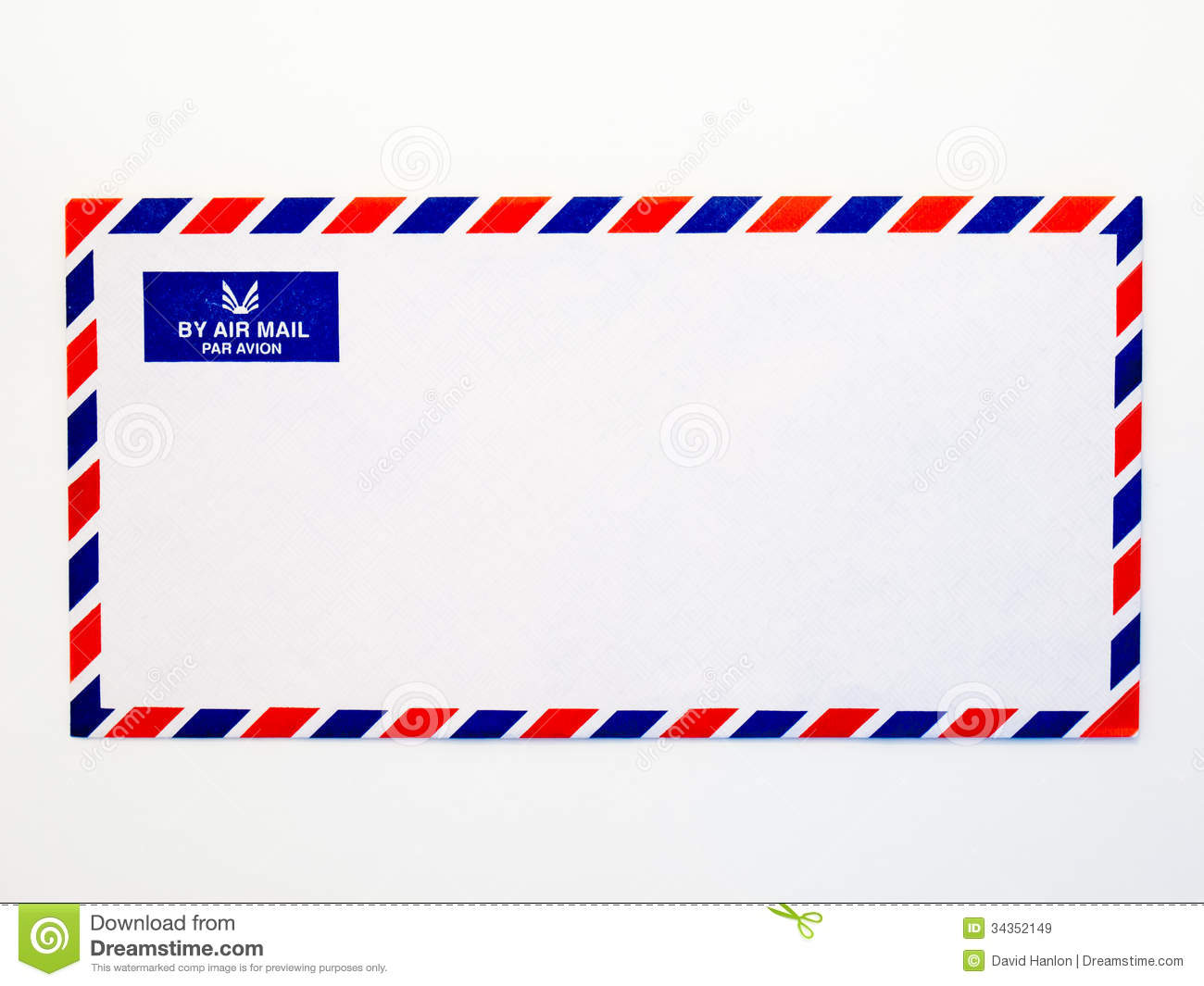 Airmail Envelope Royalty Free Stock Images - Image: 34352149