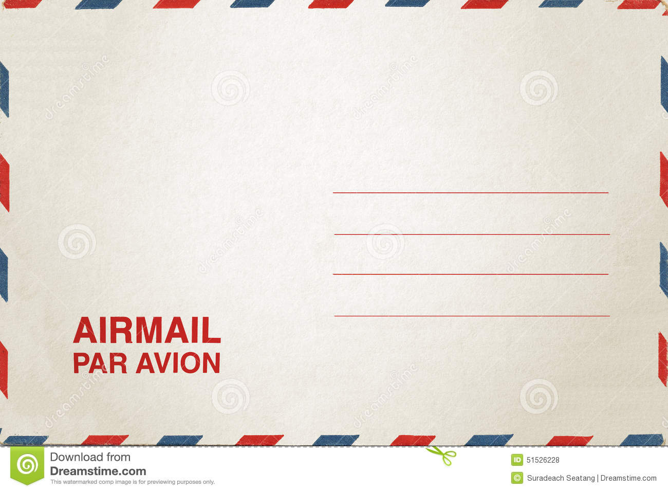 airmail postcard stock photo  image of brown  envelop