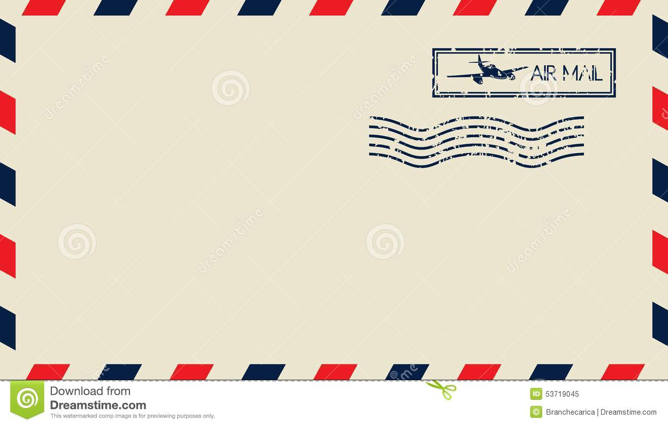 airmail stock vector illustration of card envelope 53719045