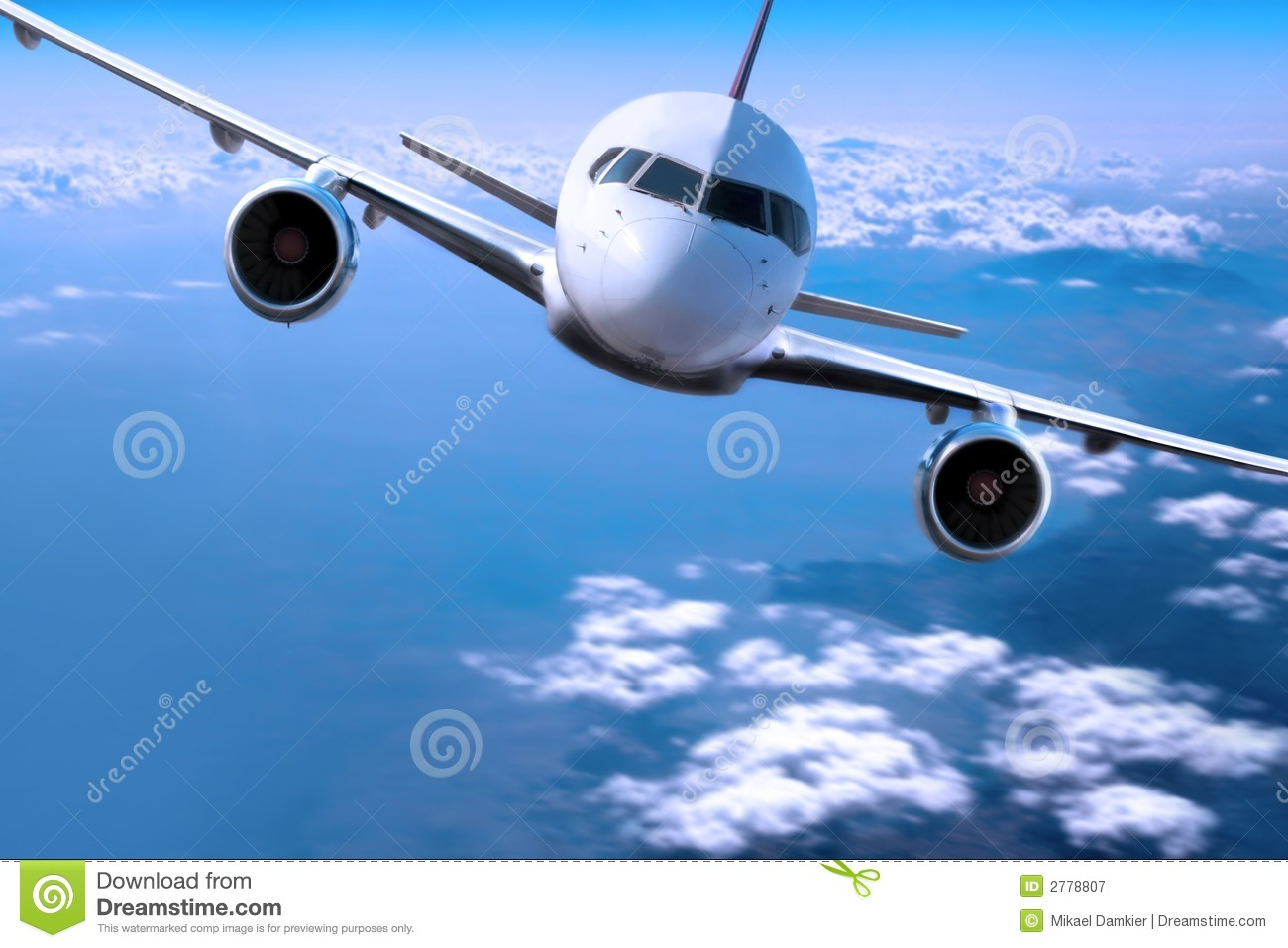 Airplane above the clouds, stock image. Image of energy ...