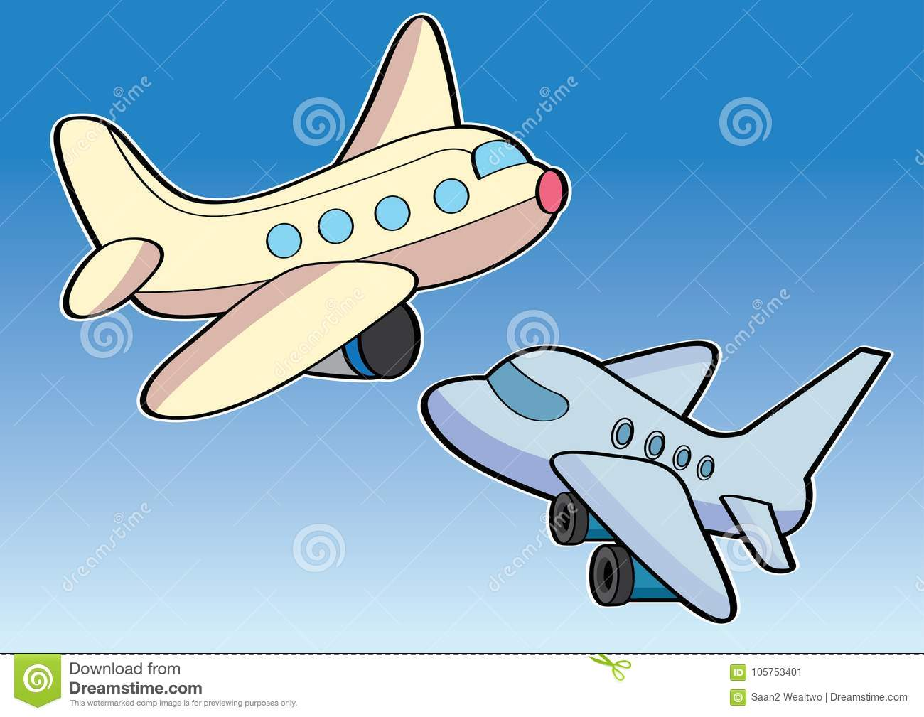 Download Airplane Aircraft Aeroplane Plane Cartoon Stock Vector