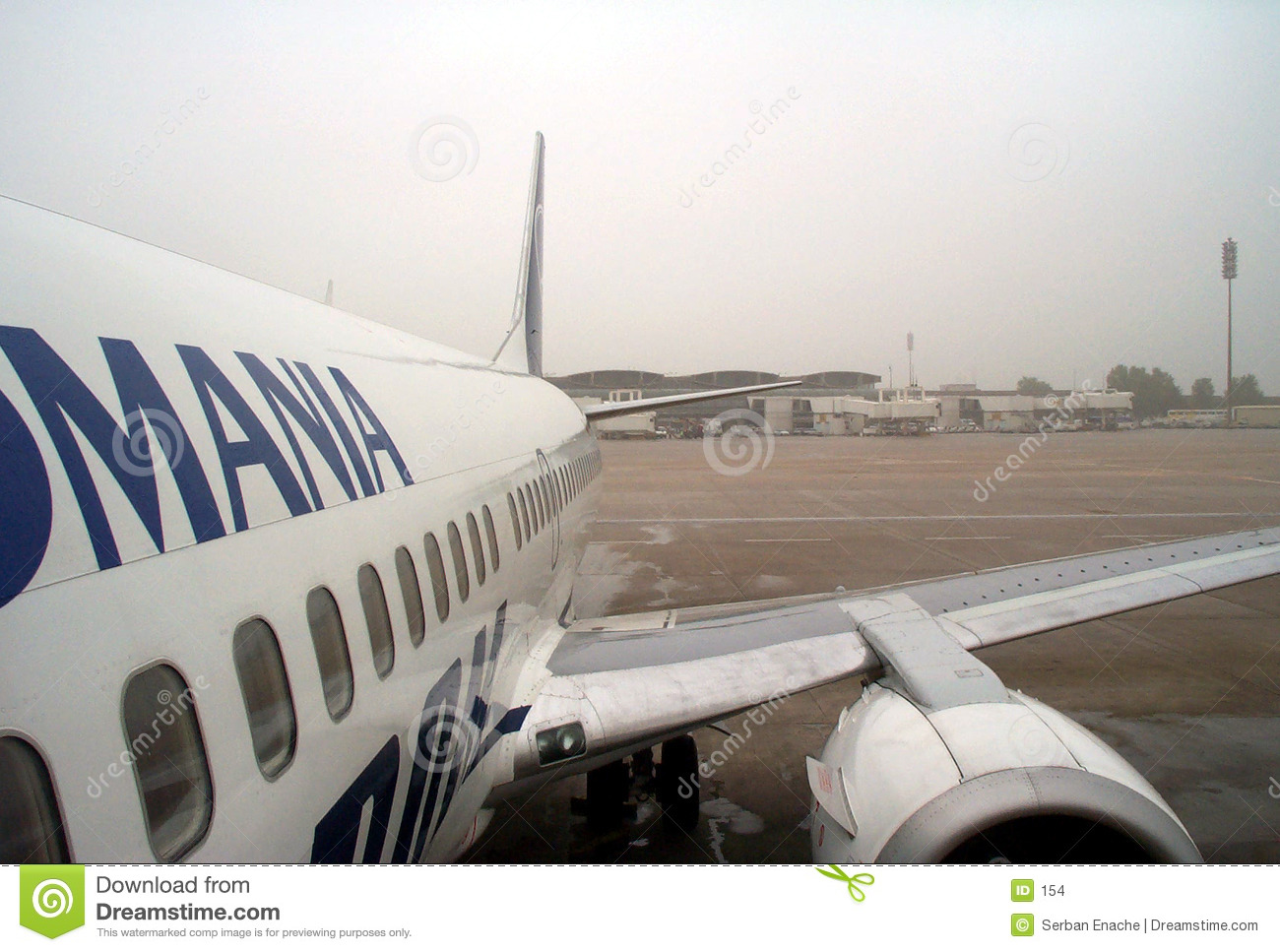 Airplane and airport