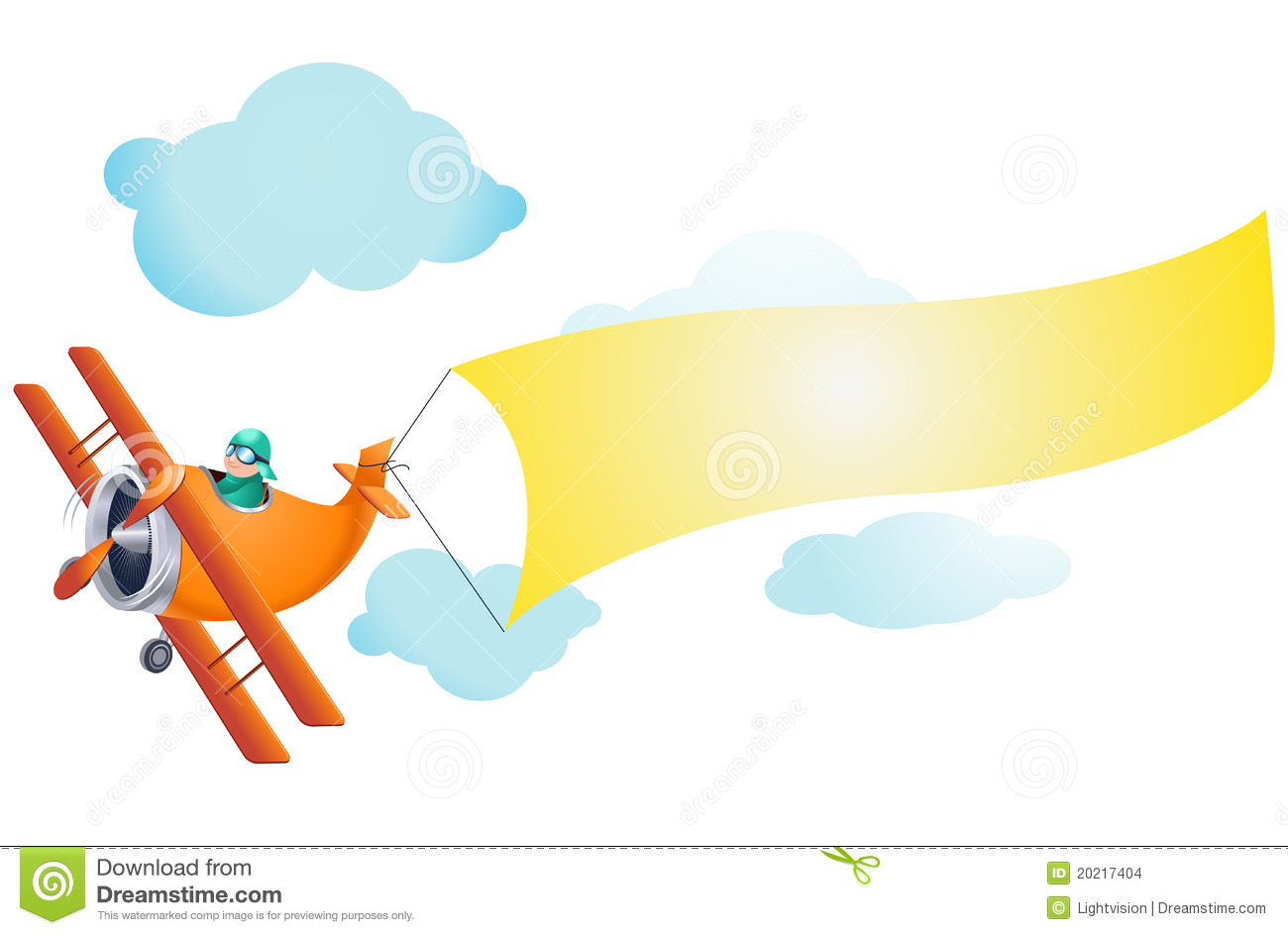 Airplane With Blank Sign Stock Images - Image: 20217404