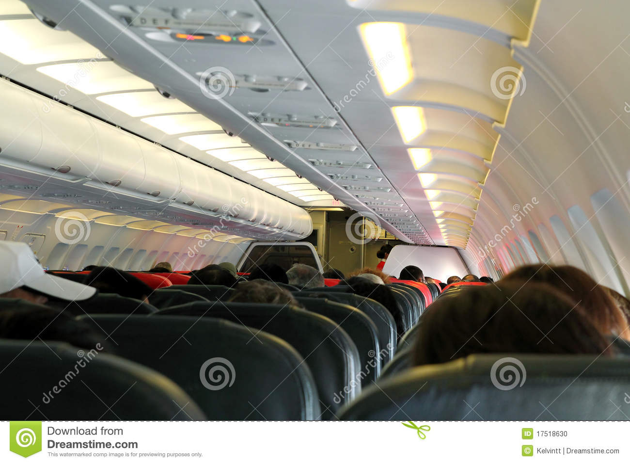 Cheap Air Filters >> Airplane Cabin stock photo. Image of destination, commercial - 17518630