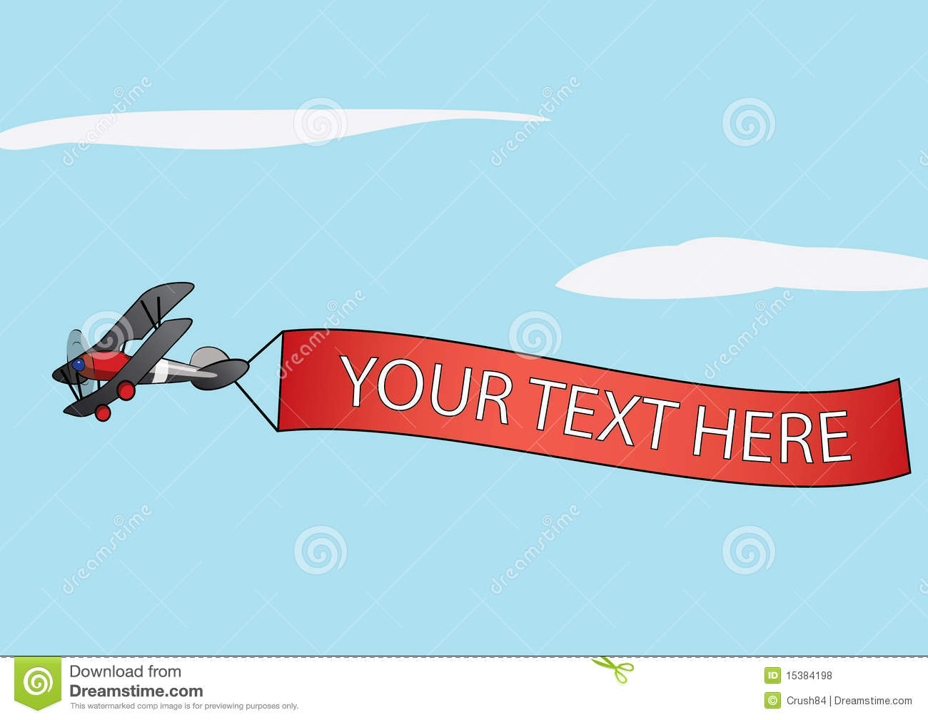 clipart airplane with banner - photo #43