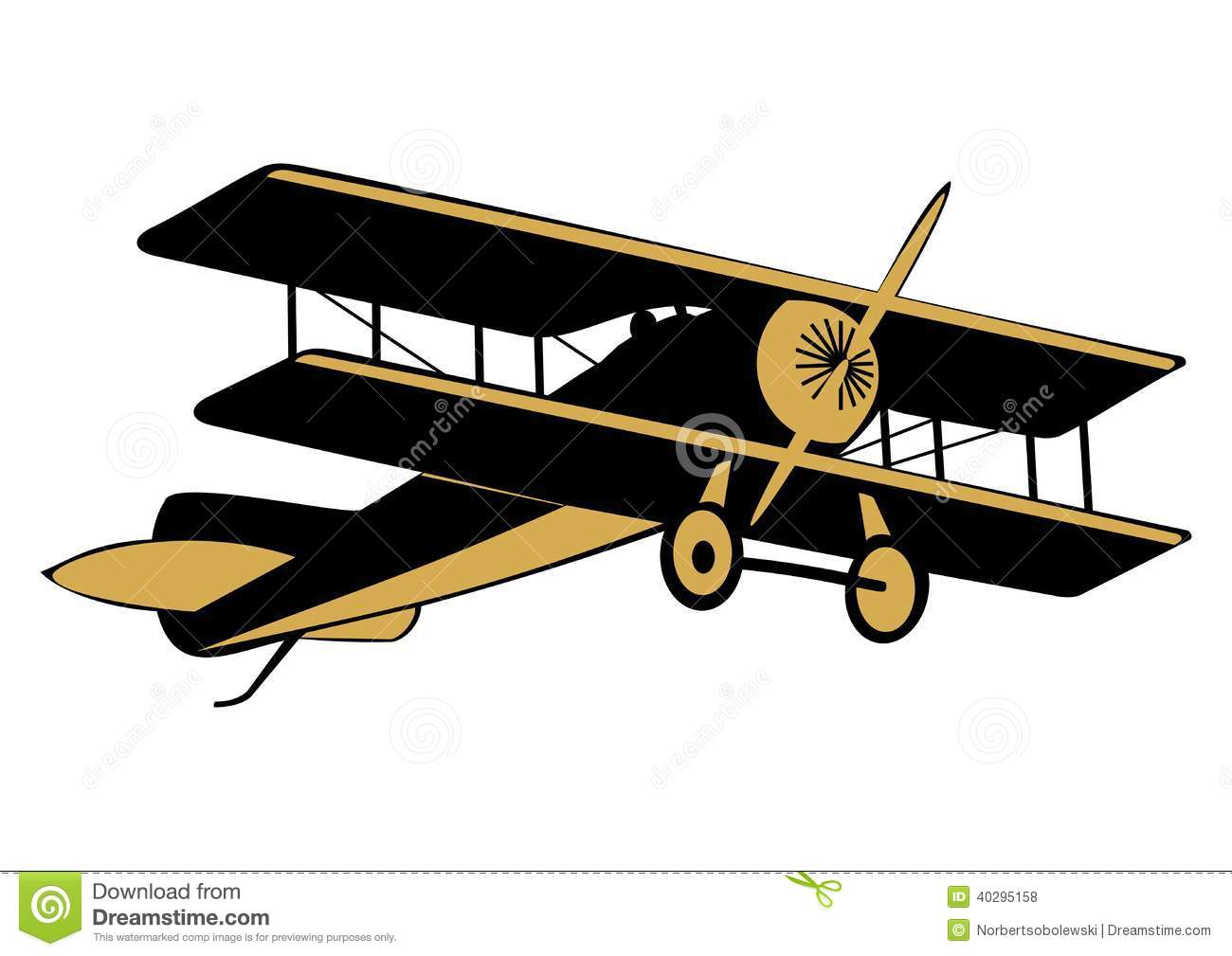 airplane stock vector illustration of fighter antique 40295158 rh dreamstime com vintage airplane clipart no background vintage aviation clipart