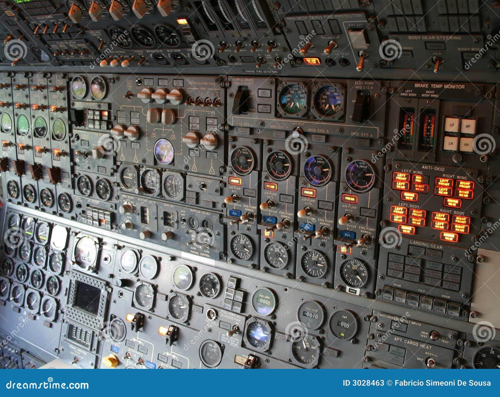 Airplane Cockpit stock image  Image of cockpit, acceleration
