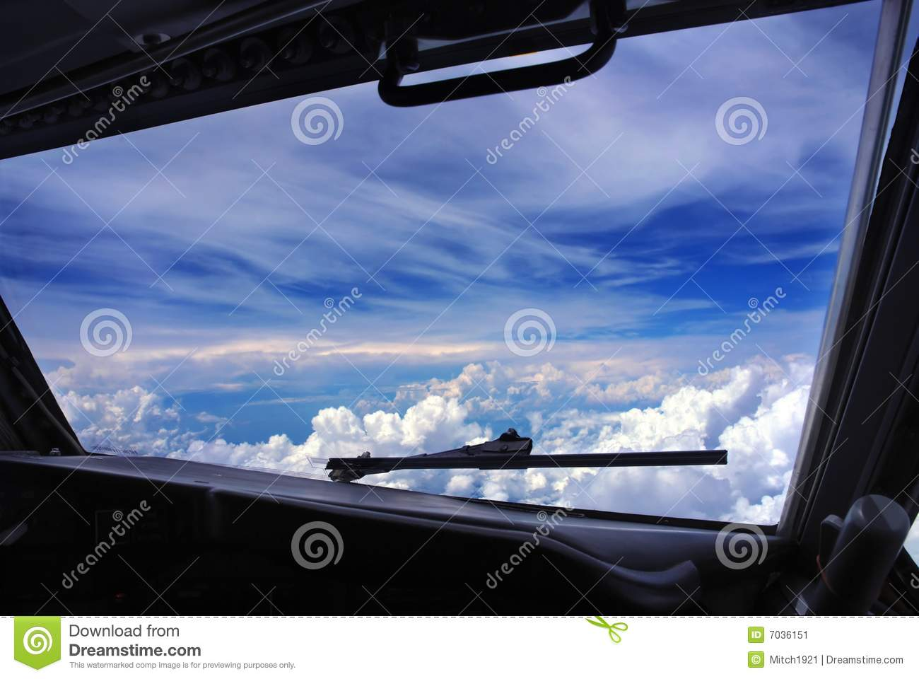 Airplane cockpit window stock image image of for Airplane cockpit wall mural