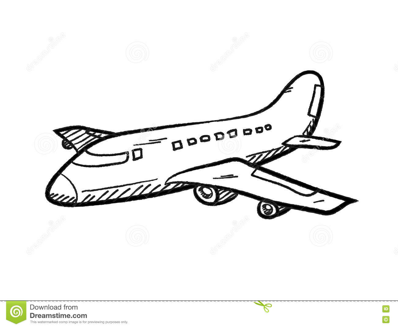 Airplane Doodle Stock Vector Illustration Of Doodle
