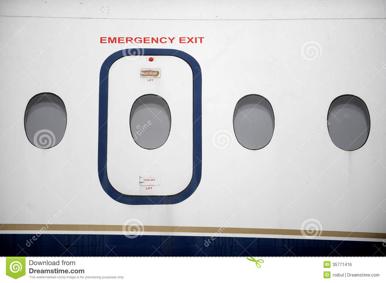 aircraft airplane door ... & Airplane Emergency Exit Royalty Free Stock Image - Image: 35771416 Pezcame.Com