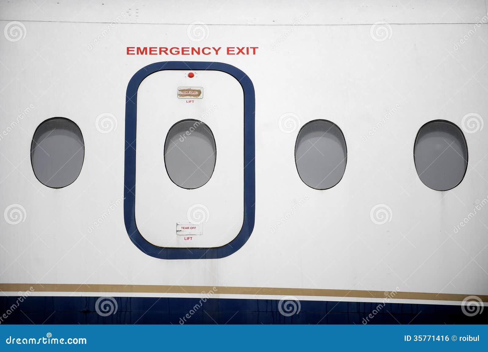 Airplane Emergency Exit Royalty Free Stock Image Image