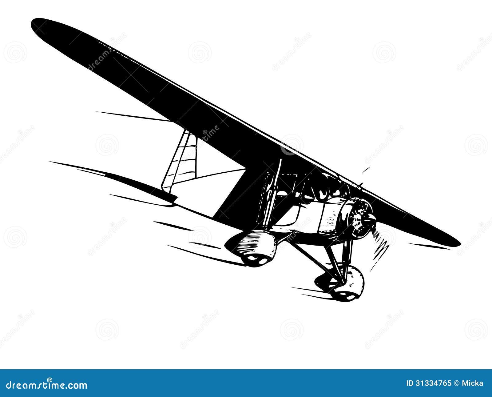 vintage airplane clipart - photo #37