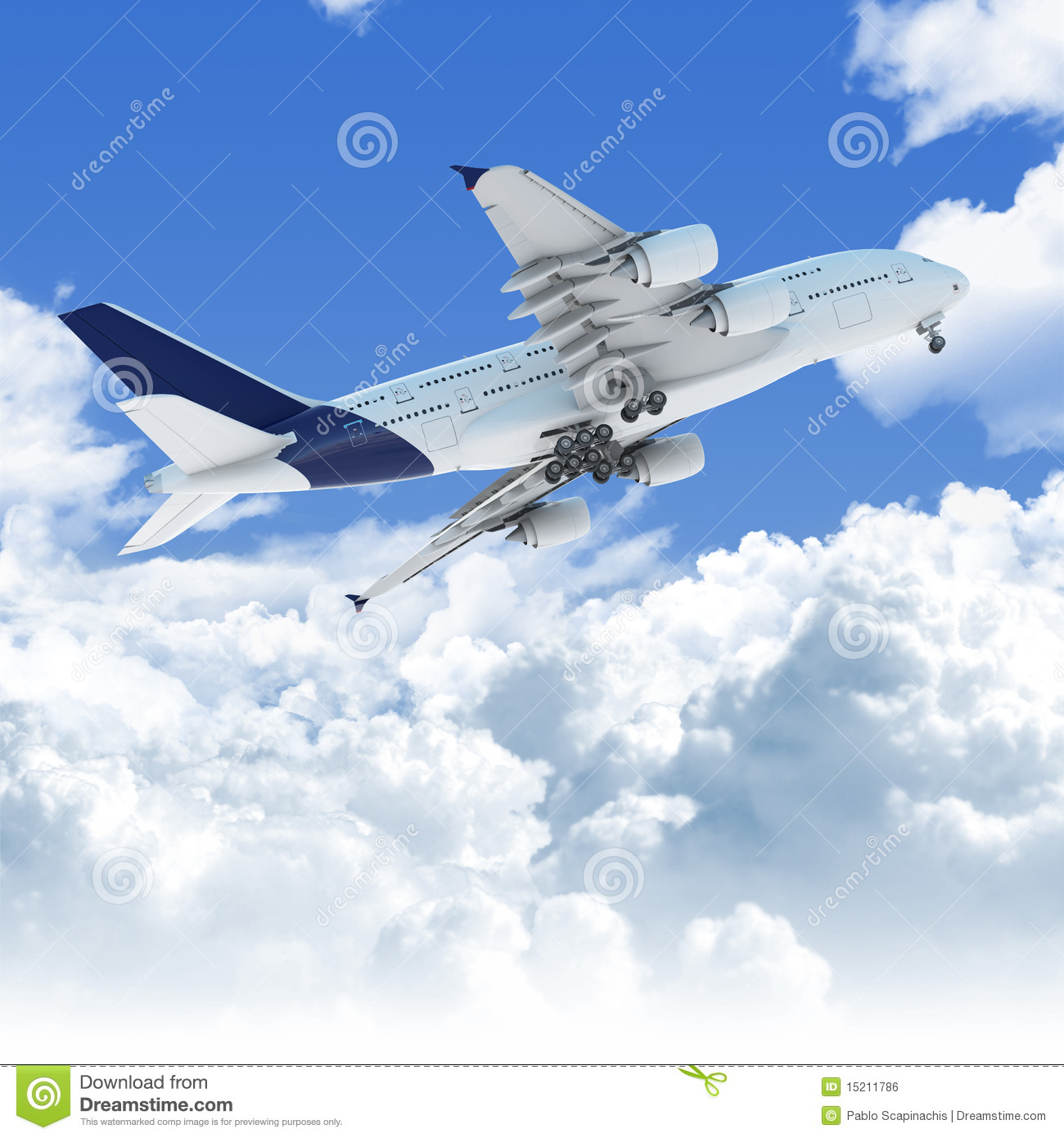 Airplane flying over clouds 15211786 jpg