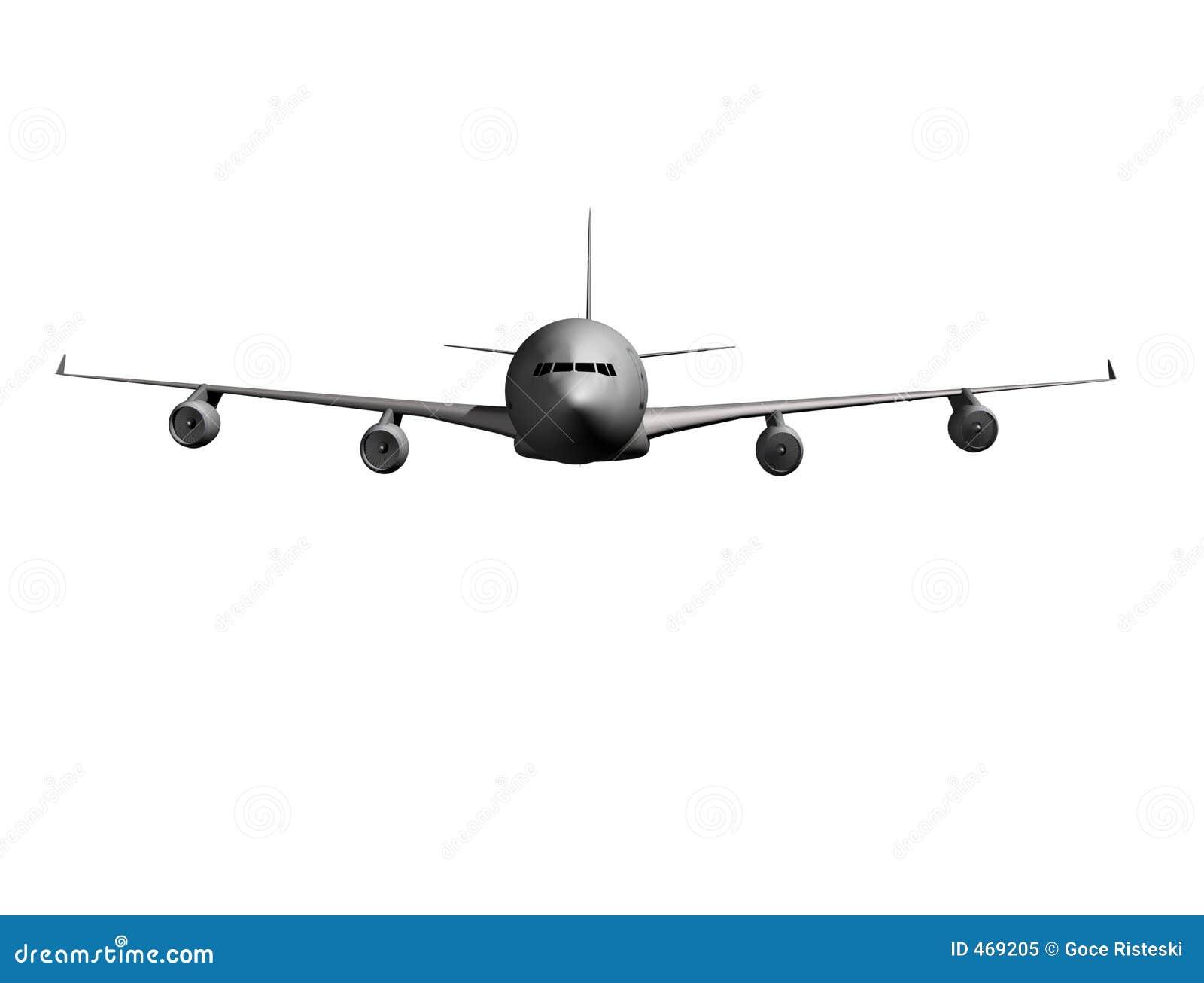 Download Airplane front stock illustration. Illustration of wallpaper - 469205