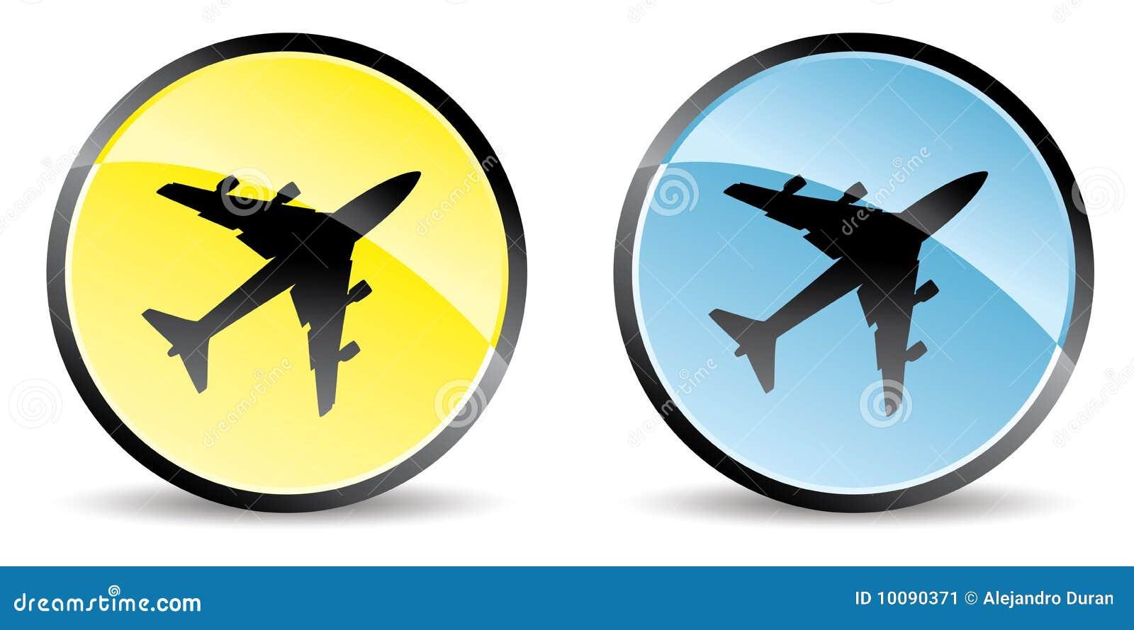 Airplane Icon Stock Image - Image: 10090371