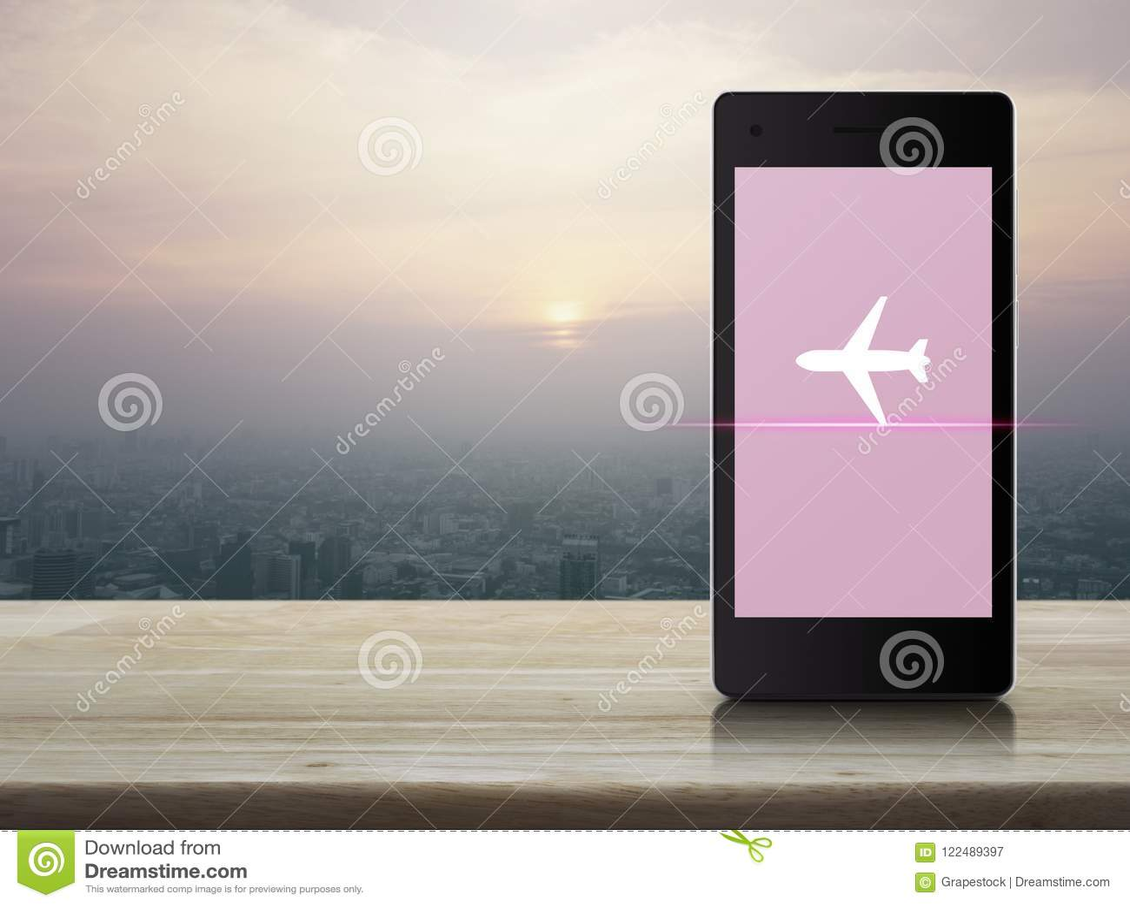 Business Airplane Transportation Concept Stock Illustration