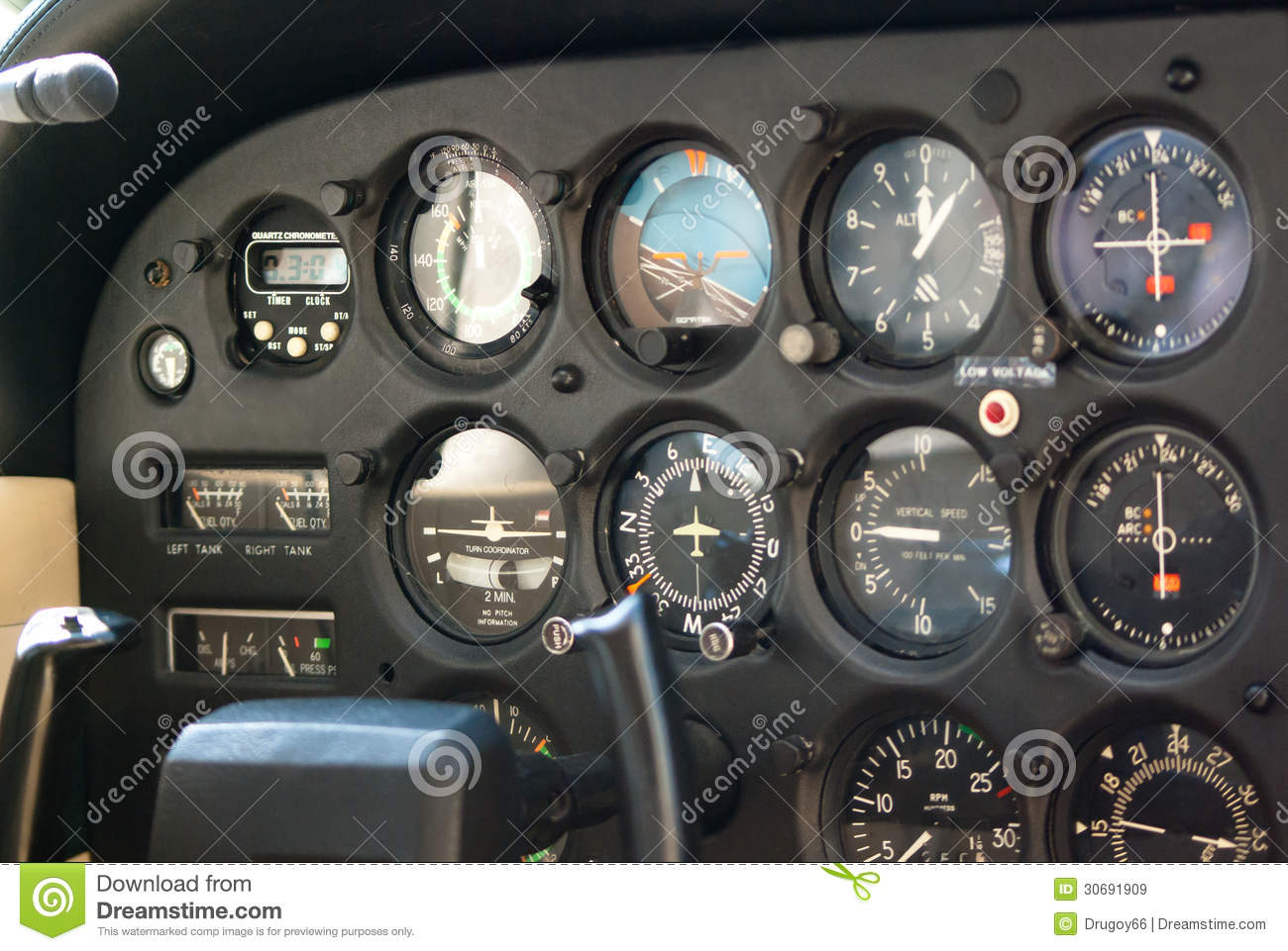 Airplane Instrument Panel : Airplane instrument panel royalty free stock images