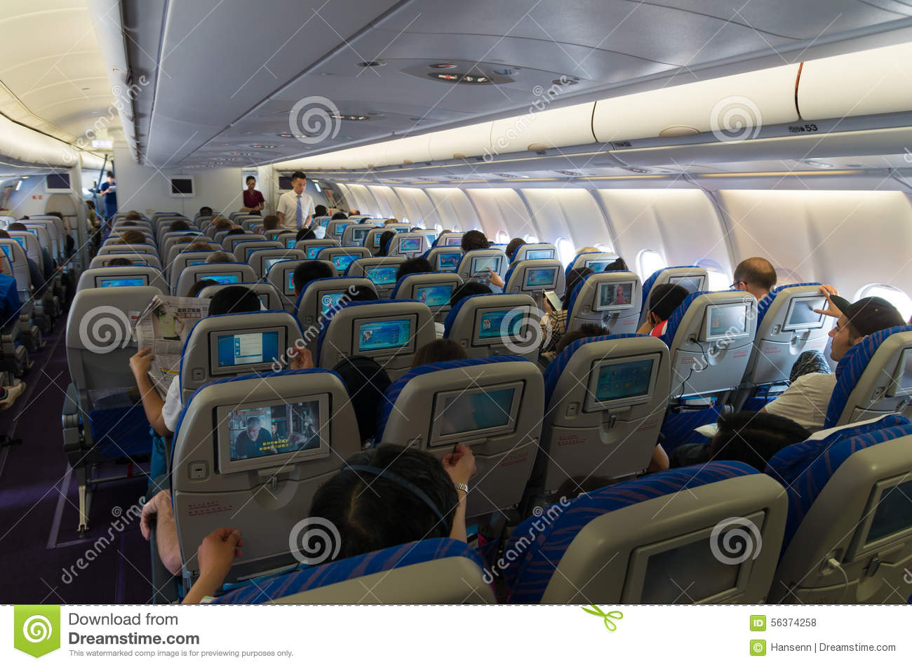 Airplane Interior Editorial Stock Photo Image Of