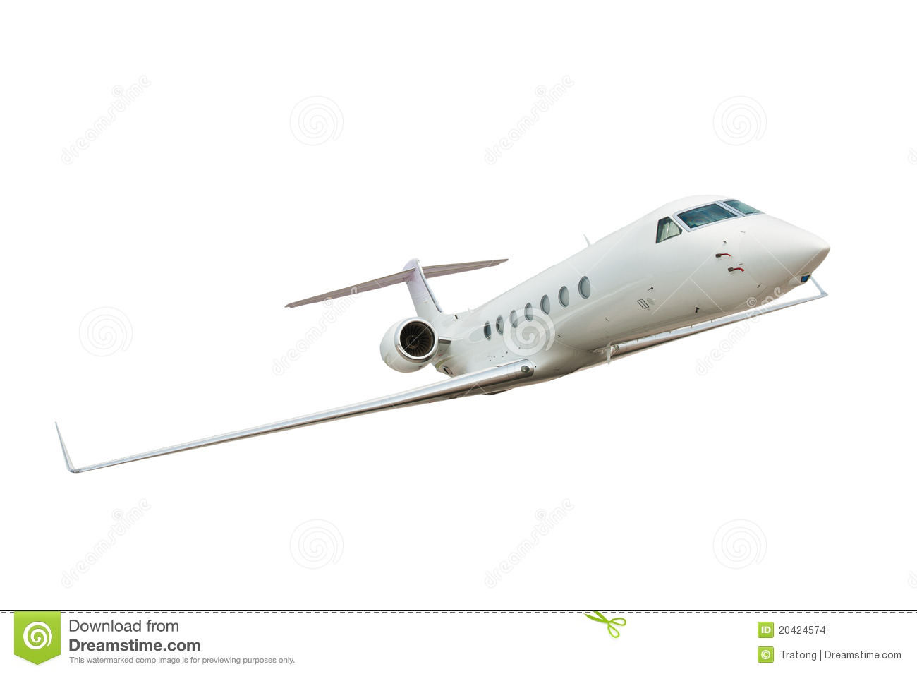 Airplane Isolated On White Background Stock Images - Image ...