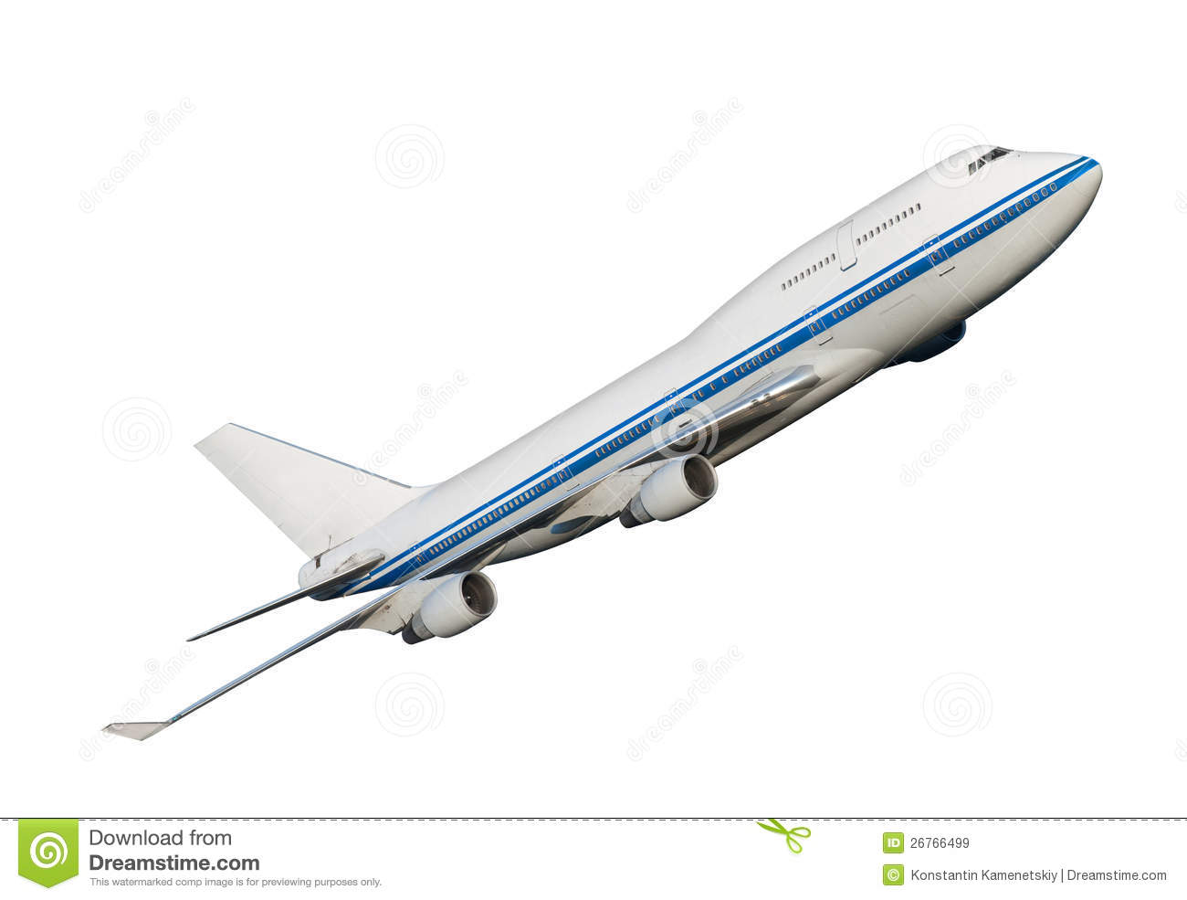 Airplane Isolated On White Background. Royalty Free Stock ...