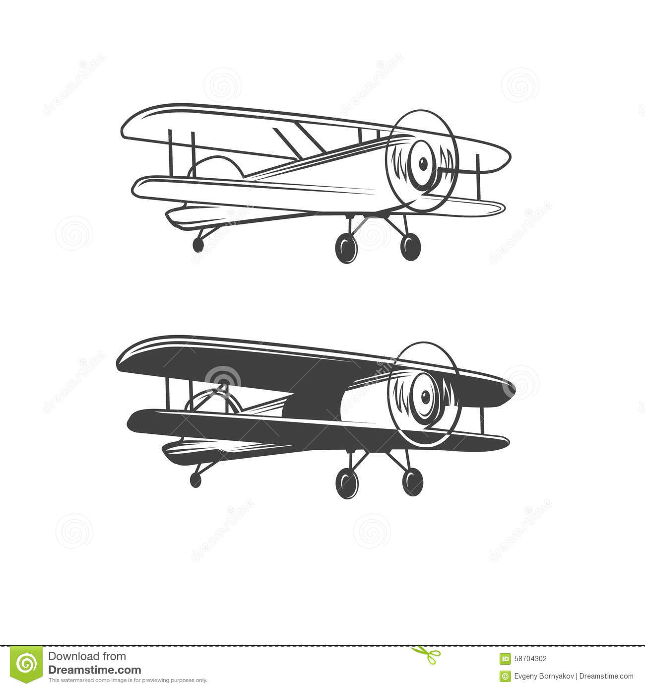 airplane logo stock vector image 58704302
