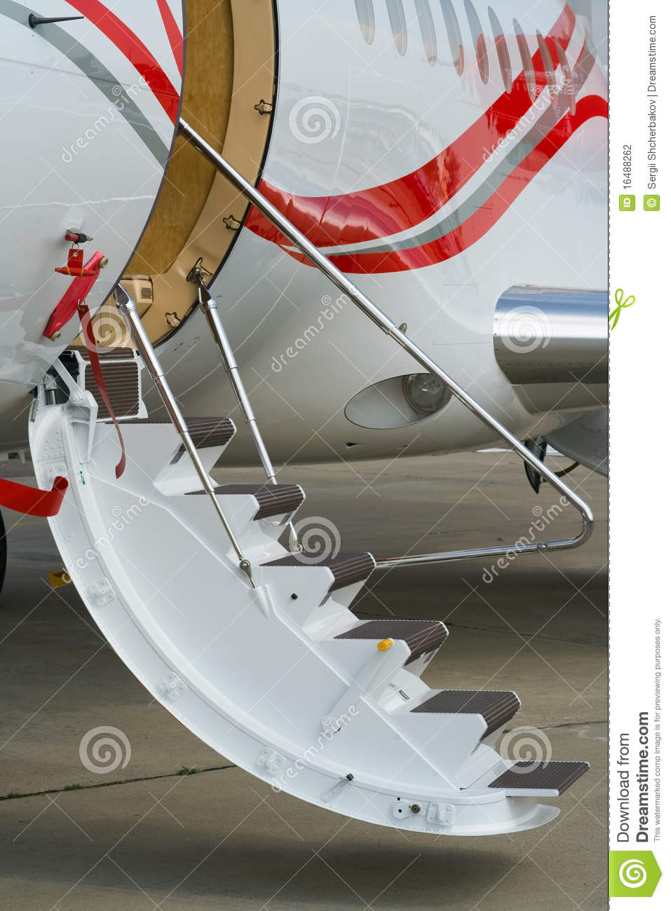 Airplane Low Air Stairs Stock Photography Image 16488262