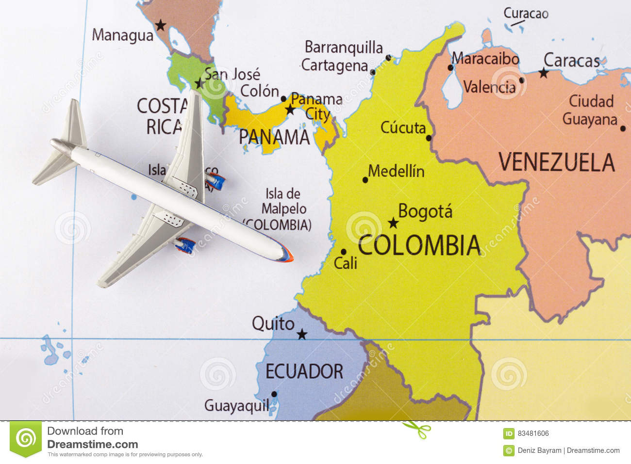 Cali Colombia Map on