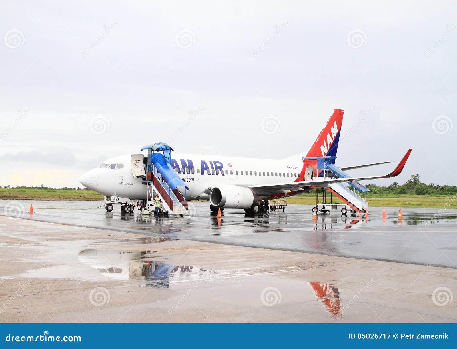 Airplane Nam Air on airport