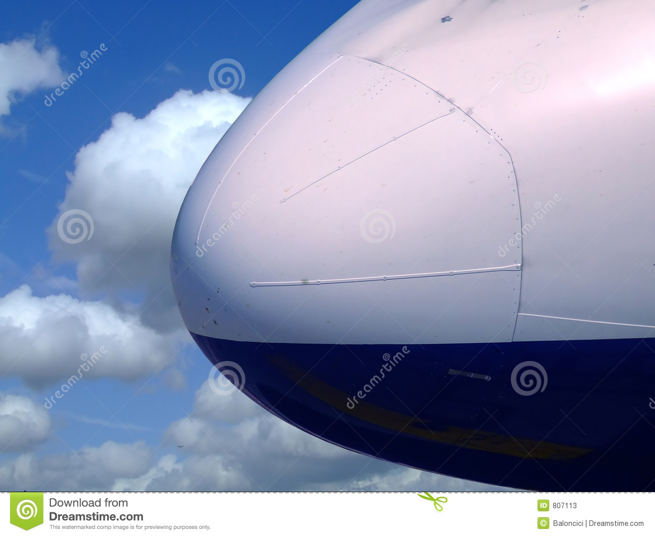 Airplane Nose Stock Image Image Of Line Plane Blue