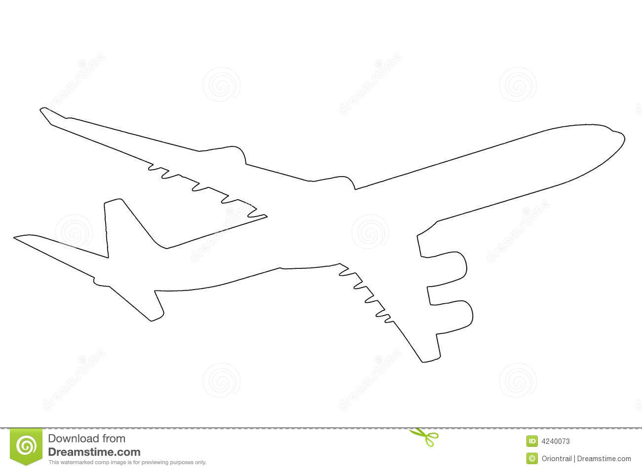 Airplane Outline Illustration Stock Photos - Image: 4240073