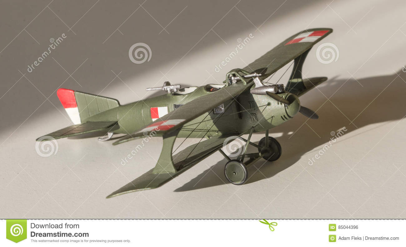 Airplane Plastic Model Assembled Stock Photo - Image of