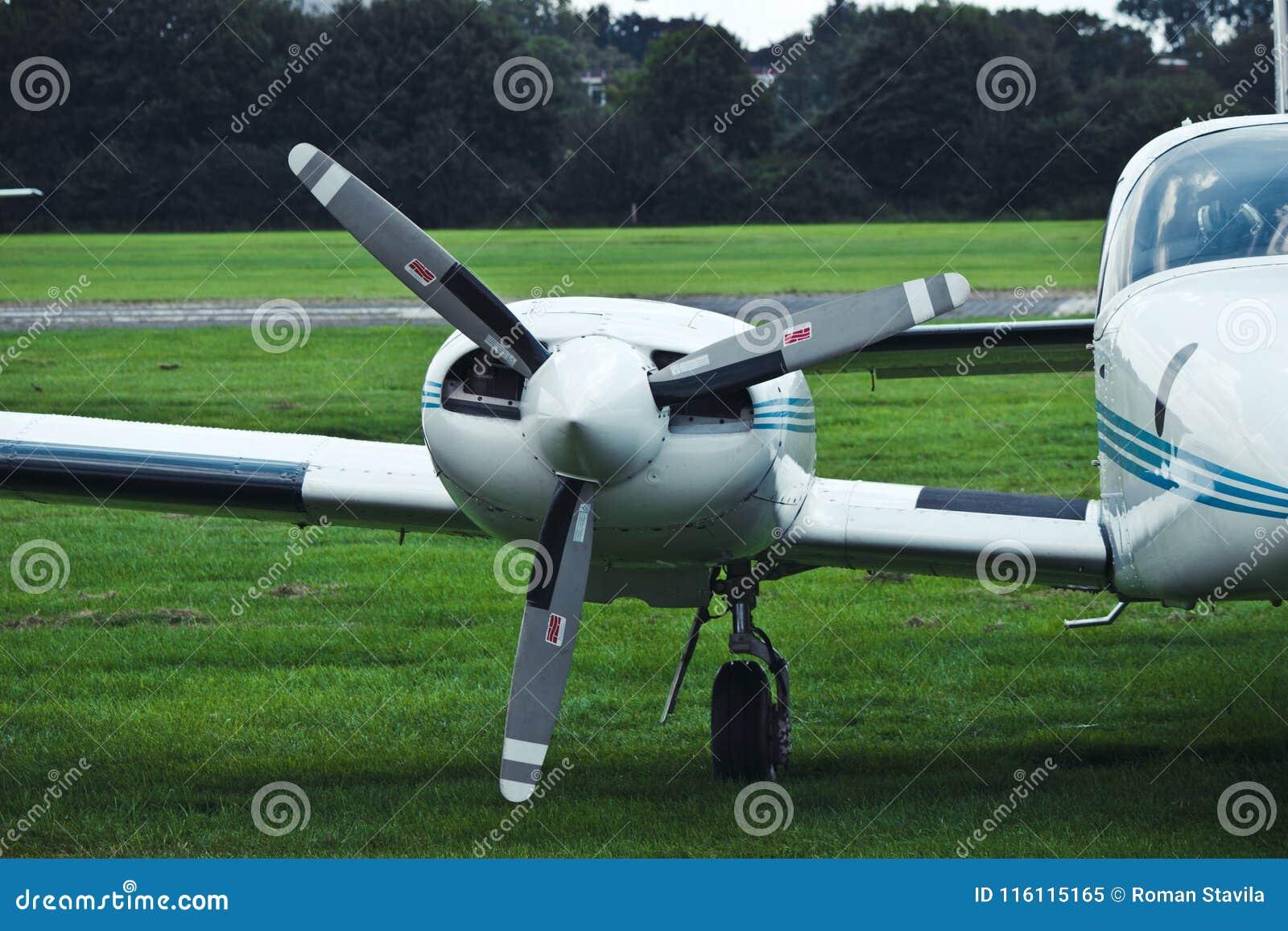 Airplane propeller. engine aircraft. airplane.
