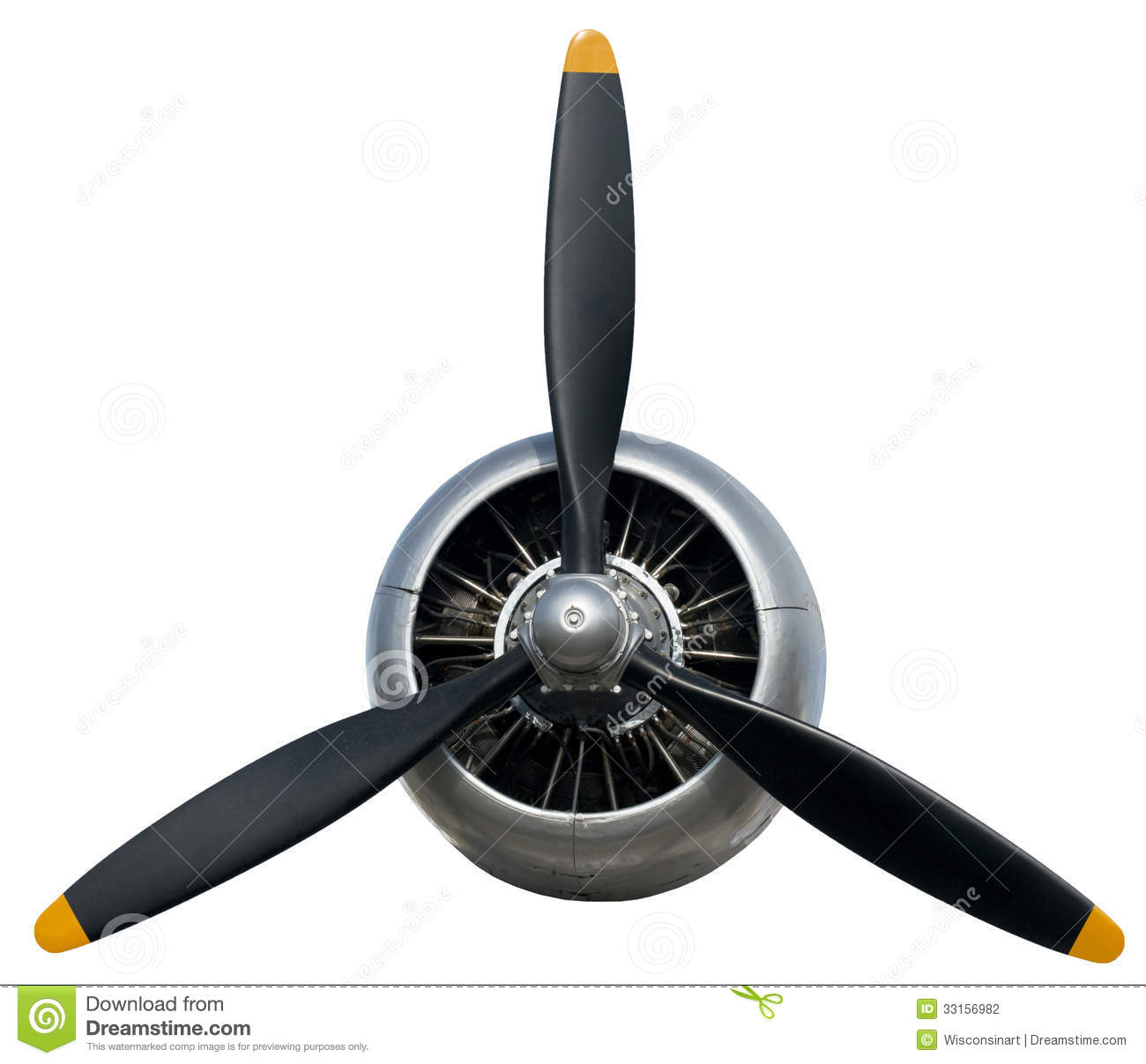 Airplane Propeller Flight Aviation Engine Isolated