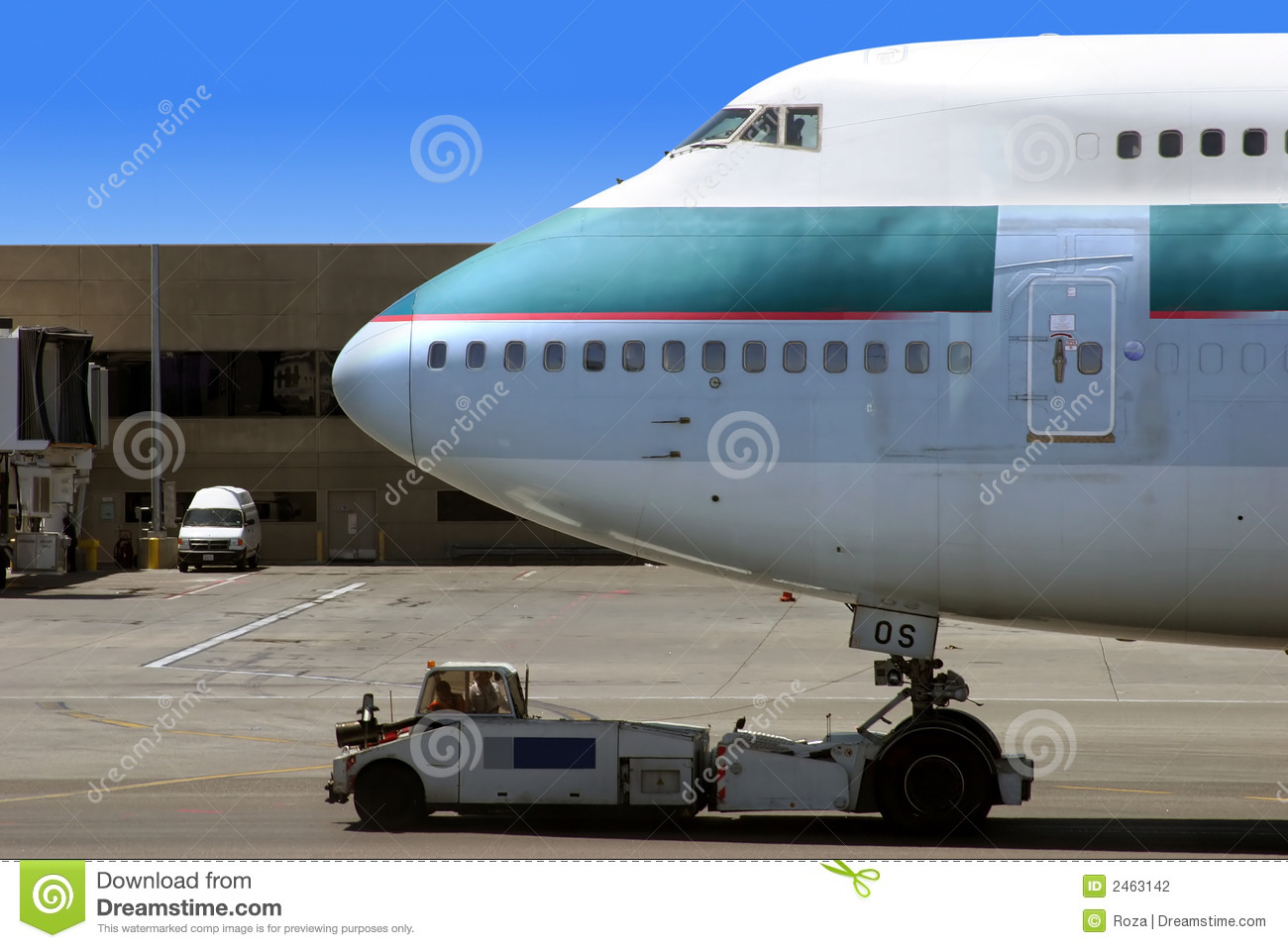 Airplane ready for departure