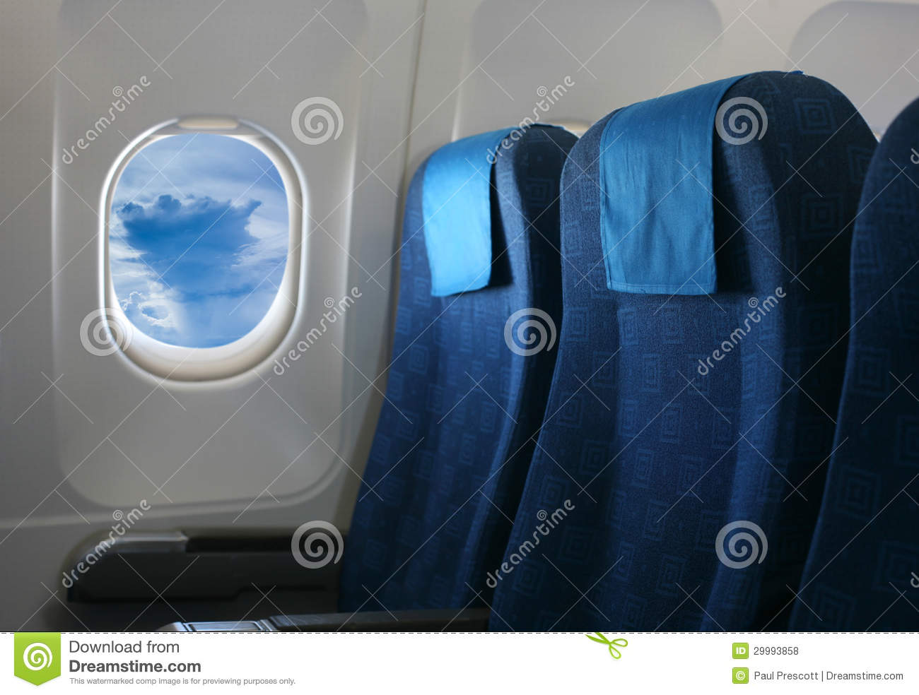 Airplane Seat And Window Stock Photo Image Of Flight