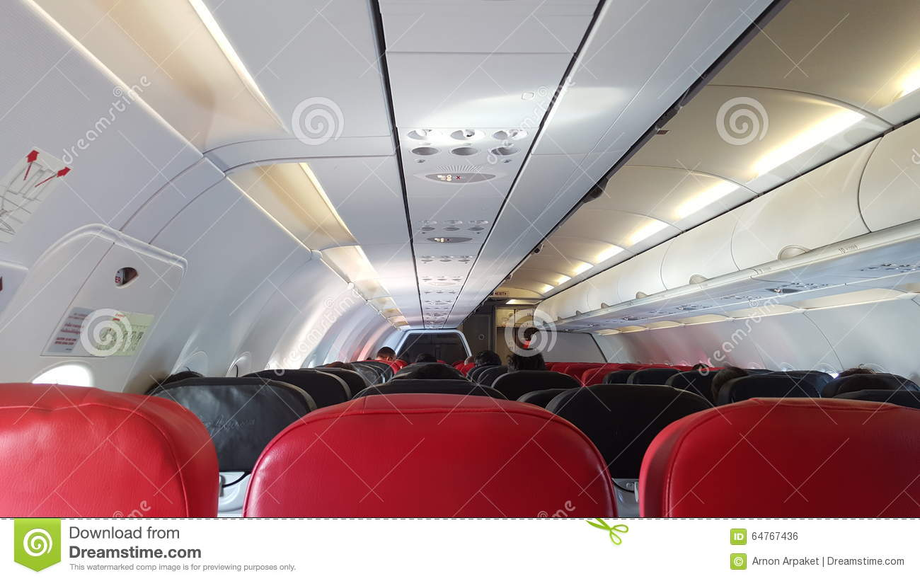 Download Airplane Seats In Front View Stock Photo
