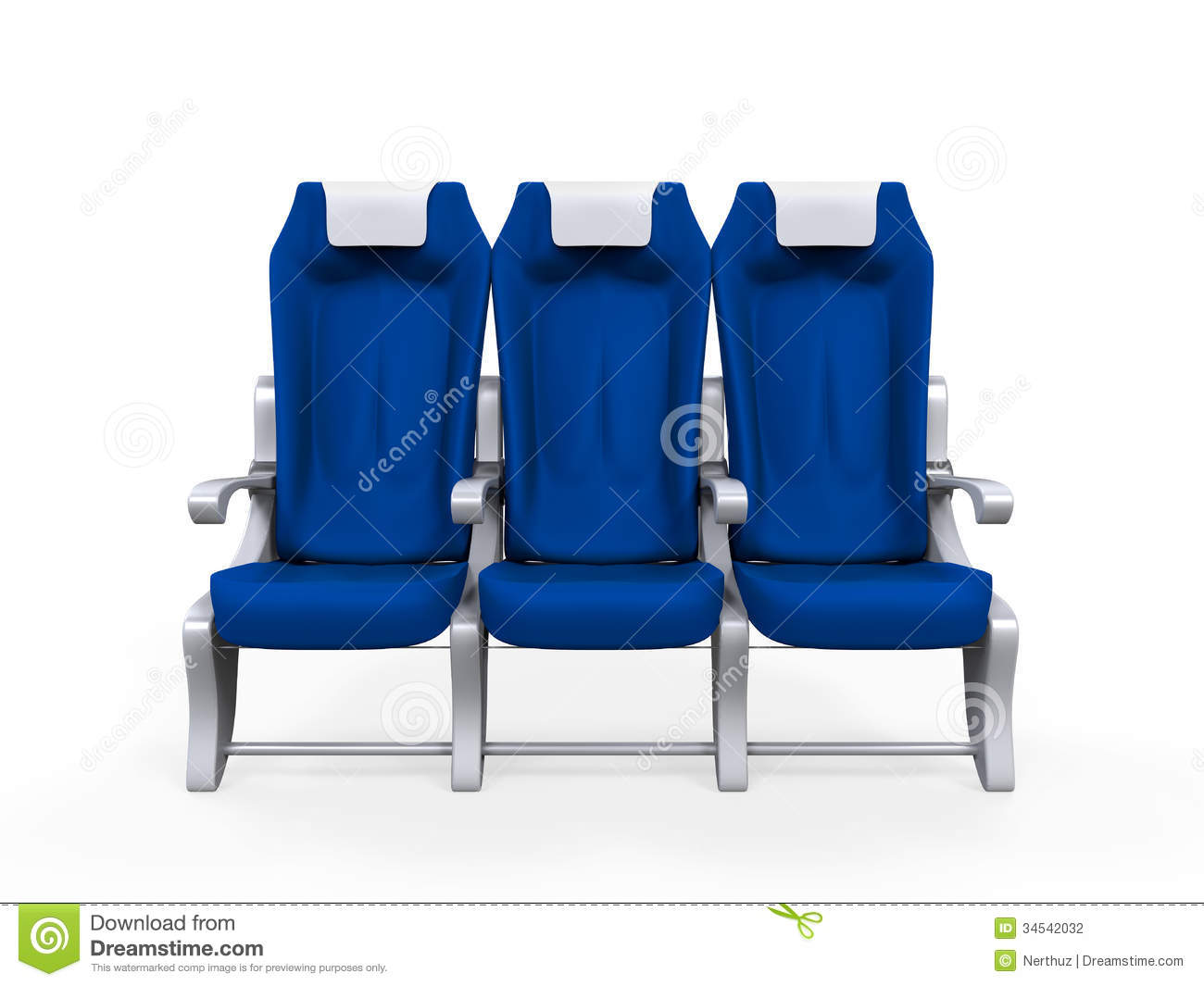 Download Airplane Seats Isolated Stock Illustration Of Interior