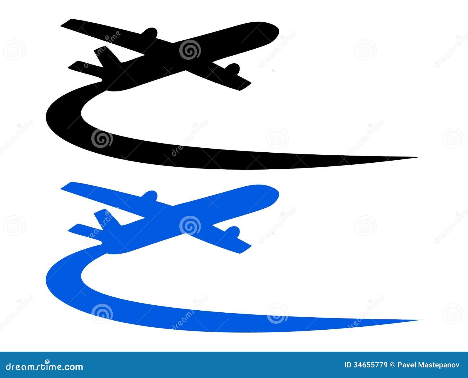 Airplane symbol design stock vector illustration of speed 34655779 airplane symbol design buycottarizona Gallery